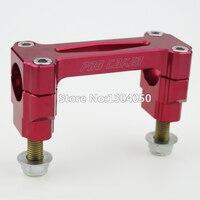 CNC Billet 1 1 8 28mm HandleBar Fat Bar Riser Mounts Clamps For Honda CR CRF