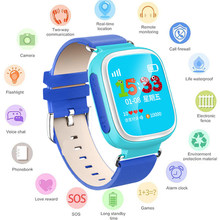 GEJIAN GPS Children's Watch Mobile Phone Flashlight Children 1.22 inch Color Touch Screen WIFI SOS Baby Watch PK Q50 Q80 Q60(China)