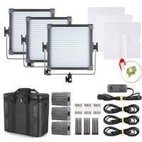 F V K4000 Daylight LED Studio Panel Photography Lighting 3 Light Kit For Photography Video Studio