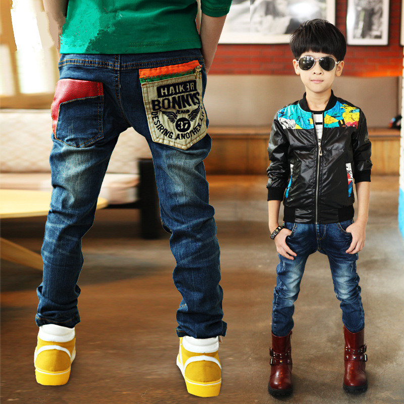 3-11Y Fashion Boys Jeans Trousers Cowboys Autumn Kids Clothes Casual Baby Pants Toddler Casual Boy Denim Pants Children Clothing(China)