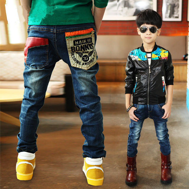 3-11Y Fashion Boys Jeans Trousers Cowboys Autumn Kids Clothes Casual Baby Pants Toddler Casual Boy Denim Pants Children Clothing