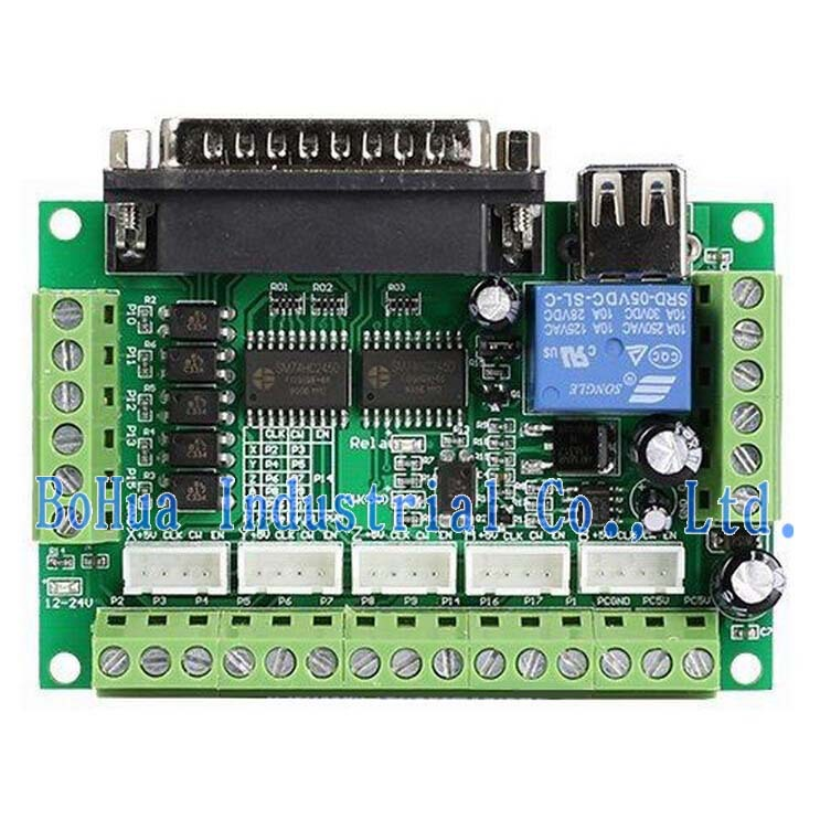 Upgraded 5 axis cnc interface adapter breakout board for for Cnc stepper motor controller circuit