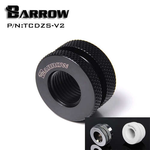 Barrow G1/4'' White Black Silver Gold board cross water inlet water fill in port for computer water cooling use TCDZS-V1 barrow white black red g1 4 3 8od x 5 8od 10 x 16mm tubing hand compression fittings water cooling fitting