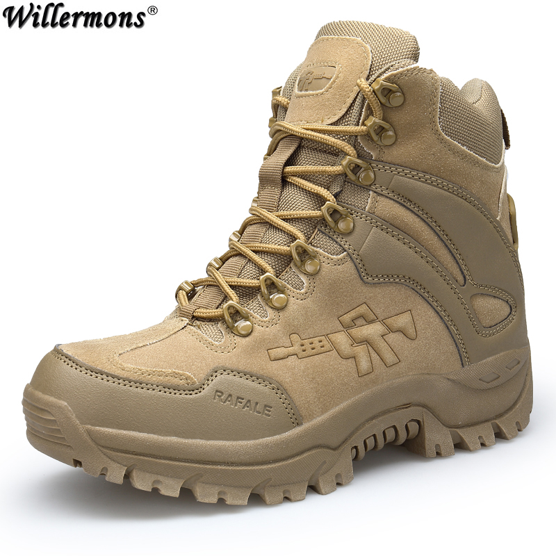 Spring & Autumn Men's Outdoor Army Combat Ankle Boots Shoes Men Military Tacical Short Desert Boots Shoes