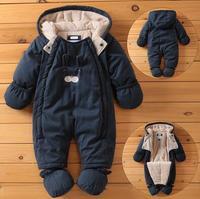 Baby Rompers Newborn Winter Windproof Rompers Children Warm Outdoor Rompers Kids Jumpsuits