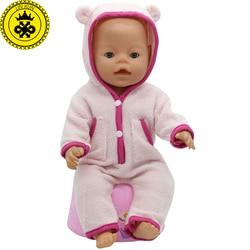 Ropa de muñeca bebé Fit 43cm Baby Doll lindas chaquetas y jerséis peleles ropa de muñeca niños regalos de cumpleaños T-6