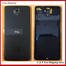 100% Original Cell Phone Shell For TCL idol X S950 Rear Back Battery Door Cover Housing with Rear Camera Glass