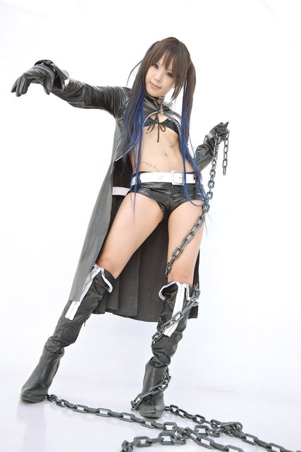 Black Rock Shooter Cosplay Costume Sexy Anime Girl Costume On
