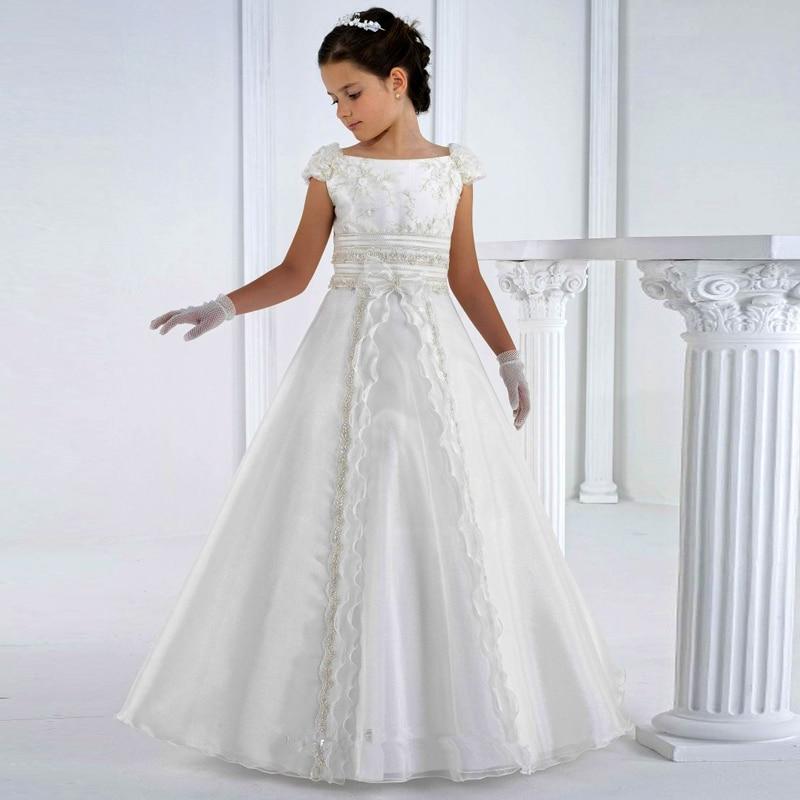 vestidos de comunion 2016 first communion   dresses   floor length princess white   flower     girl     dresses     girls   white communion   dresses