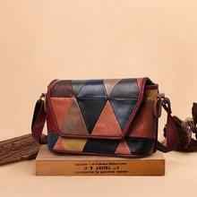 Sapateiro lenda bolsa de couro genuíno para as mulheres 2020 luxo multicolorido senhoras vintage sacos designer ombro/crossbody hobo saco