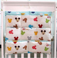 Promotion! Kitty Mickey 62*52cm Baby Bed Hanging Storage Bag Newborn Diaper And Toys Pocket Cotton Buggy Bag,baby bedding set