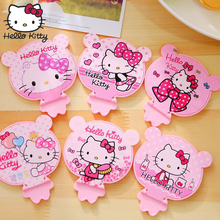 Hello Kitty 1PCS Mini Makeup Compact Pocket Floral Mirror Portable Folding Make Up Women Cosmetic Mirrors Gift
