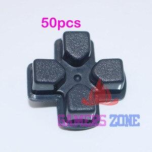 Image 1 - 50 ADET Siyah Plastik D PAD Düğme anahtar düğmeler Sony PlayStation 3 için PS3 Denetleyici