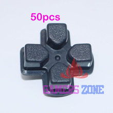 50 STUKS Zwart Plastic D PAD Button Key Pad voor Sony PlayStation 3 PS3 Controller
