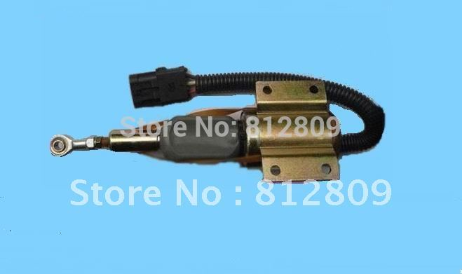 Fuel Shut Off Shutdown solenoid 3926412 SA-4257 24V 3924450 2001es 12 fuel shutdown solenoid valve for cummins hitachi