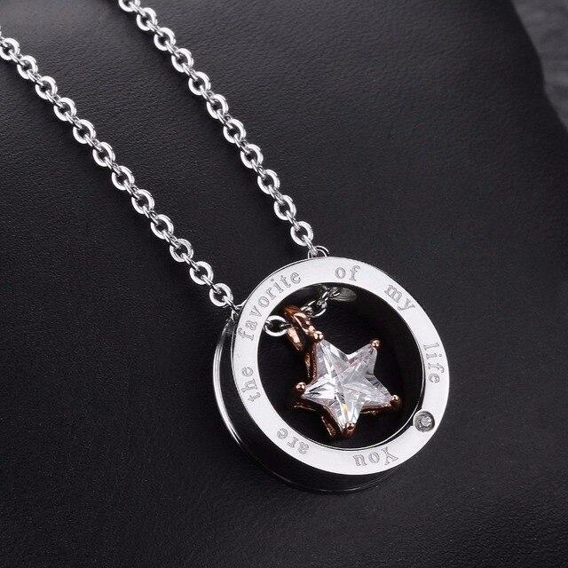 Фото 2020 ювелирные изделия ожерелья для влюбленных с белой фотозвездой цена