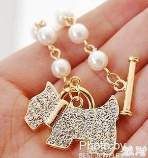 B083 Korean cheap jewelry Wholesale Special Women's Classic Jewelry 2 color Shiny <font><b>Dog</b></font> <font><b>Bracelets</b></font> for girl free shipping image