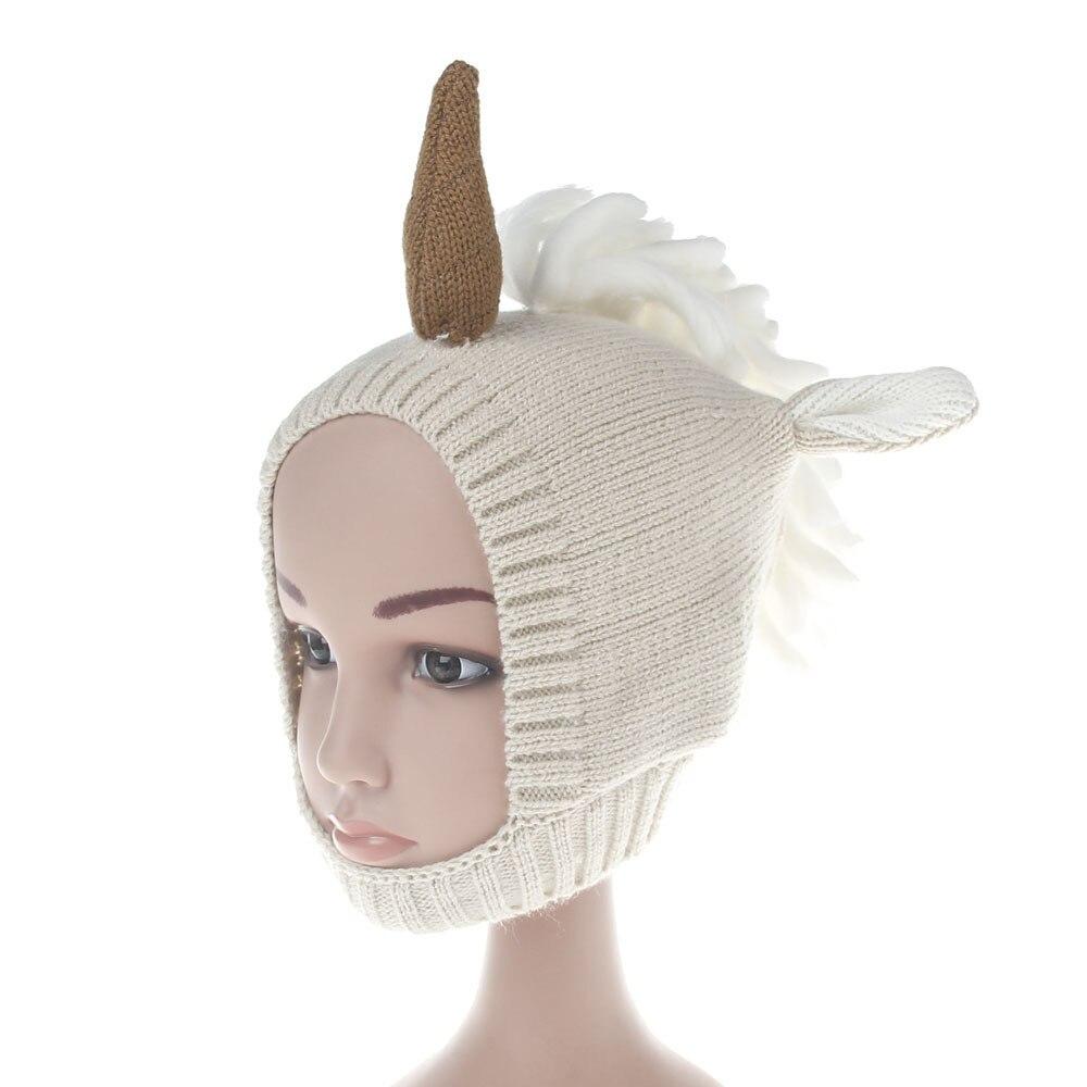 Listo traje sombrero niños unicornio sombreros mantener caliente ...