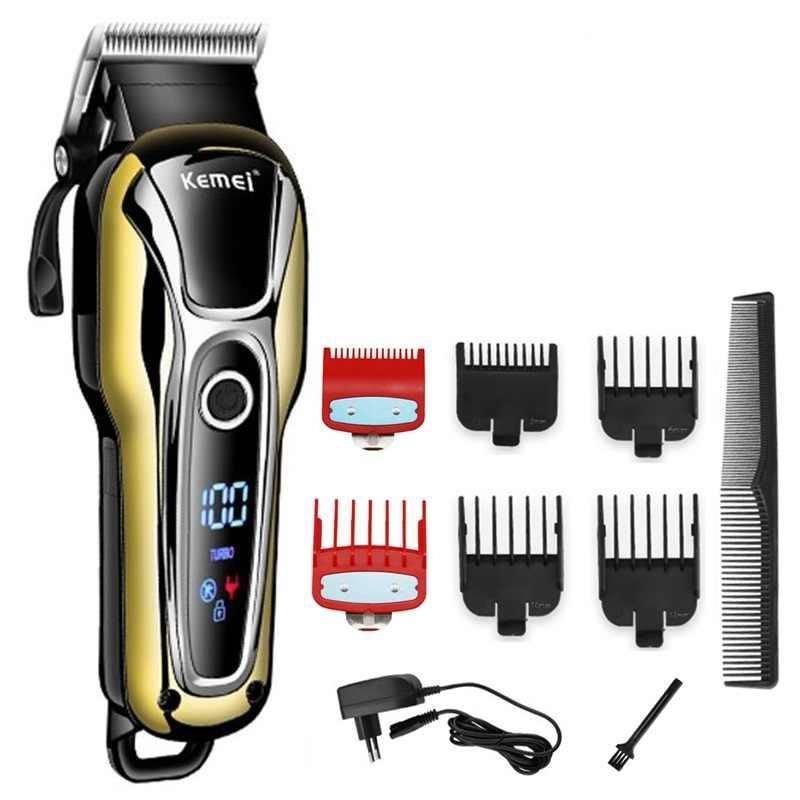 Turbo профессиональная машинка для стрижки волос Проводные Беспроводные триммер волос для мужчин электрическая машинка для стрижки волос резки Стрижка Парикмахерская инструмент