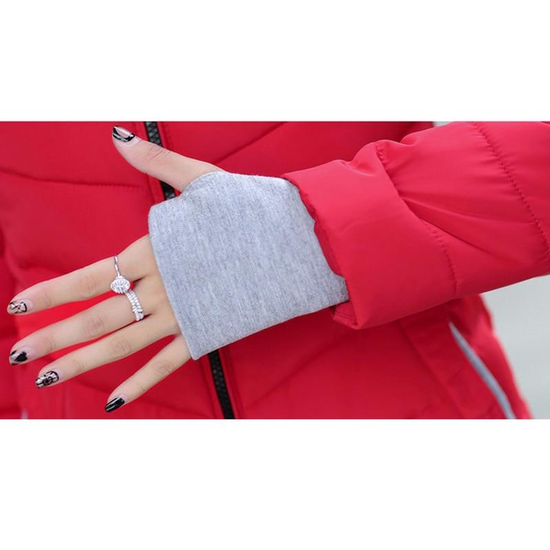 2019 hooded women winter jacket short cotton padded womens coat autumn casaco feminino inverno solid color