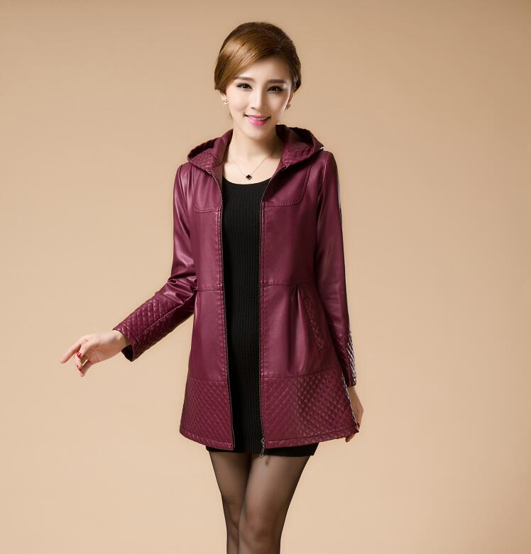 Popular Plus Size Leather Jacket with Hood-Buy Cheap Plus Size ...