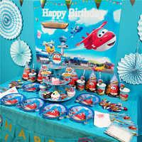Super ailes thème vaisselle ensemble enfants fête d'anniversaire décoration papier tasse papier chapeau plaque serviette bébé douche ballon