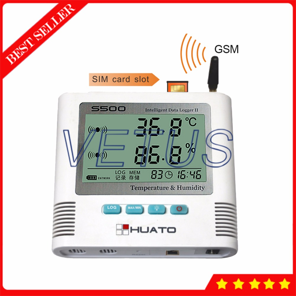 S500-TH-GSM GSM Data Logger Temperature Humidity Datalogger with Internal Sensor 6,5000 Record USB digital thermo-hygrometer data logger temperature humidity usb datalogger thermometer data record