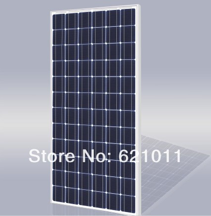 mono crystalline solar cell panel, 190W 24v solar pv modules , pv panel for solar generator and wind solar hybrid generator