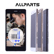 "ALLPARTS Original 5.0"" Black Gold Display For HUAWEI Ascend P8 Lite LCD Touch Screen Digitizer with Frame P8lite ALE-L04 ALE-L21"