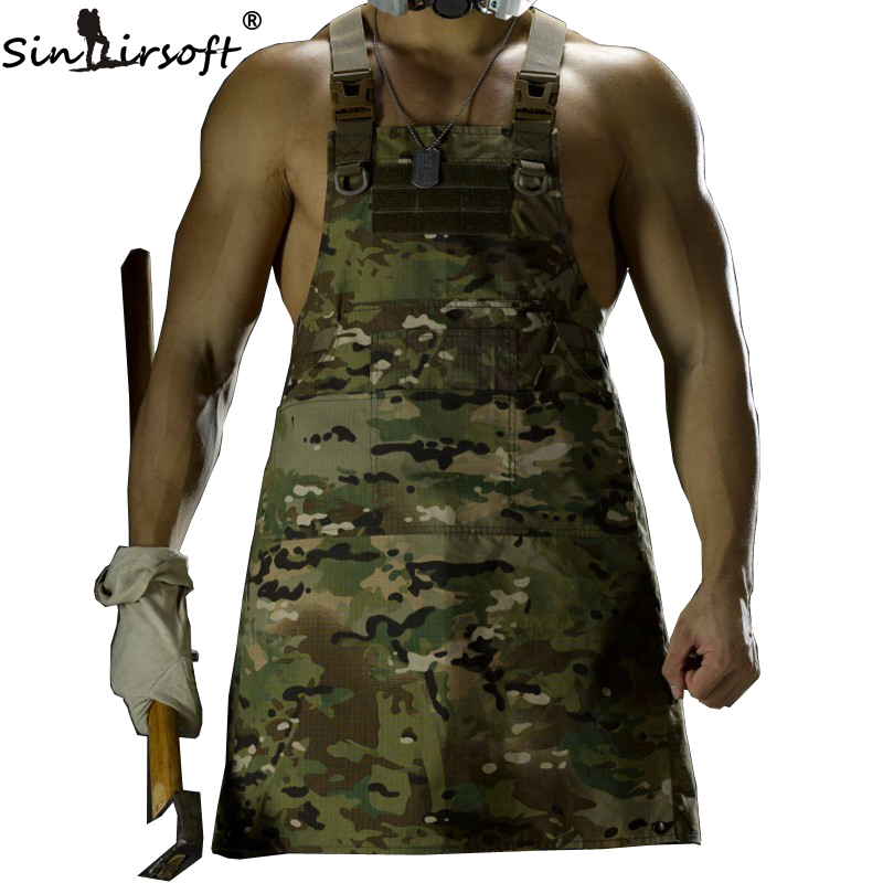 SINAIRSOFT 11 Color!Unisex Sleeveless Tactical Vest Apron Pinafore Camouflage Technician Mechanic Apron Tactical Multicam LY1402 my apron