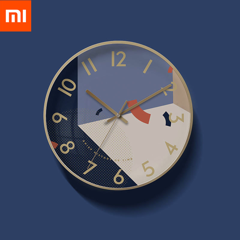 Xiaomi Mijia Yuihome Decor Wall Clock Art Geometric Patterns Home Mute Clock for Mi Smart Home