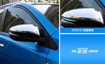 Lapetus Auto Styling Outside Door Rearview Mirror Cap Cover Trim 2 PCS Fit For Toyota Rav4 RAV 4 Hybrid 2016 2017 2018 ABS image