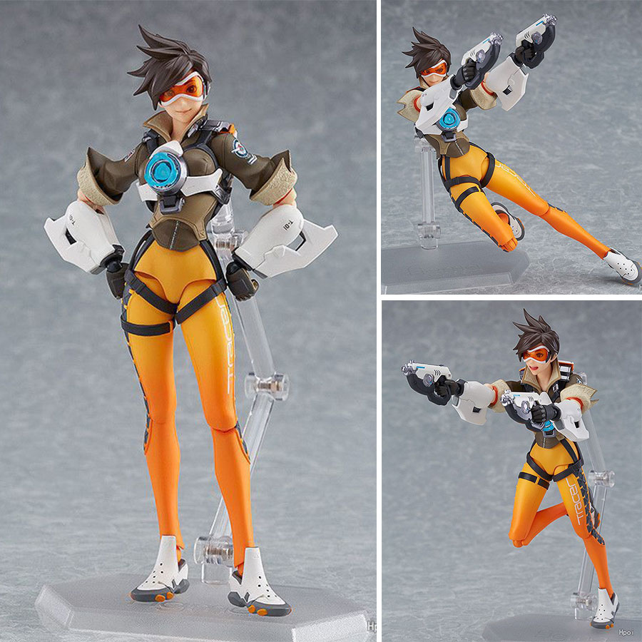 OW Gmae Action Figure Figma 352 27cm Character Tracer Joint Movable Model Doll Collection Toys Friend Christmas Gifts