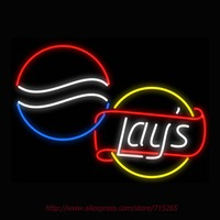 Soft Drink Lay Neon Sign Signage Board Neon Bulbs Real GlassTube Handcrafted Art Decorate Window Business