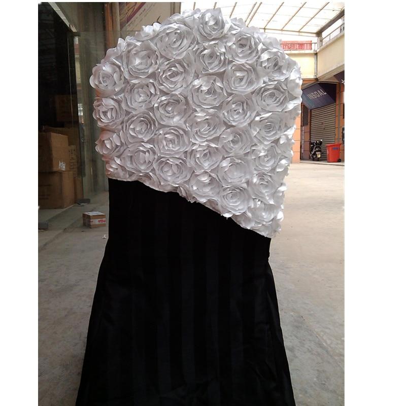 wedding chair hood/rosette chair cap Free shipping 50pcs/lot