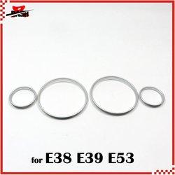 DASH Free Shipping for E38 E39 E53 Silver Cluster Gauge Dashboard Ring Plastic ABS