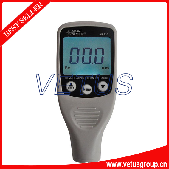 AR932 Digital Coating Thickness Gauge with Measurement Range 0~1500um 0 1500um lcd film coating thickness gauge meter 2in1 fe nfe non magnetic surface paint coatings thickness measurement gm211