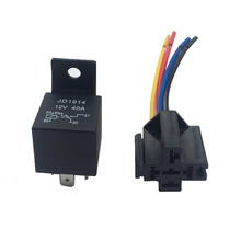 GPS Automotive Relay With 14CM Line Socket 12V 24V 40A 5-Pin Car/Bike/Boat Control Device Changeover Relays DXY88