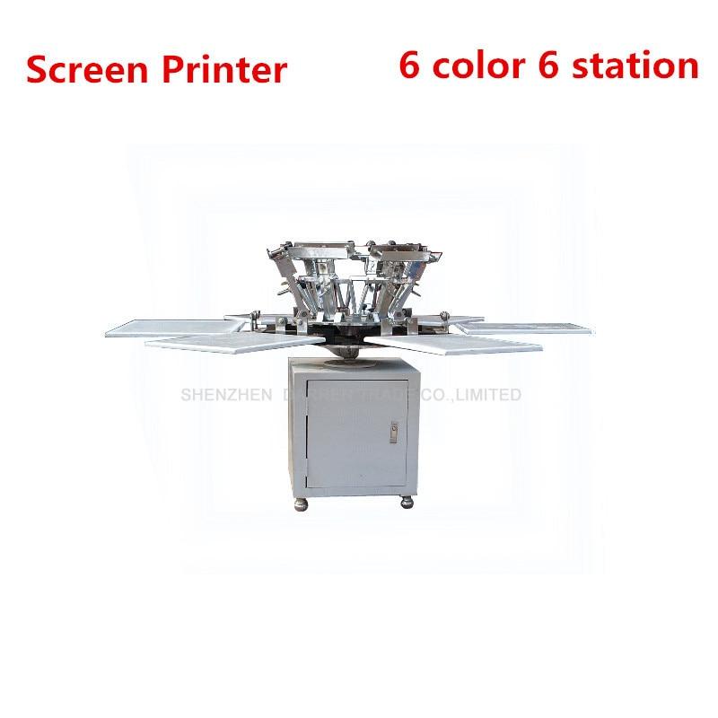 1 ensemble 6 couleur 6 Station T-shirt sérigraphie Machine T-shirt faisant la Machine