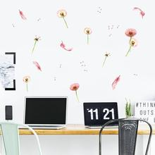 PD004 new Nordic Ins wall stickers dandelion feather creative living room and bedroom decoration