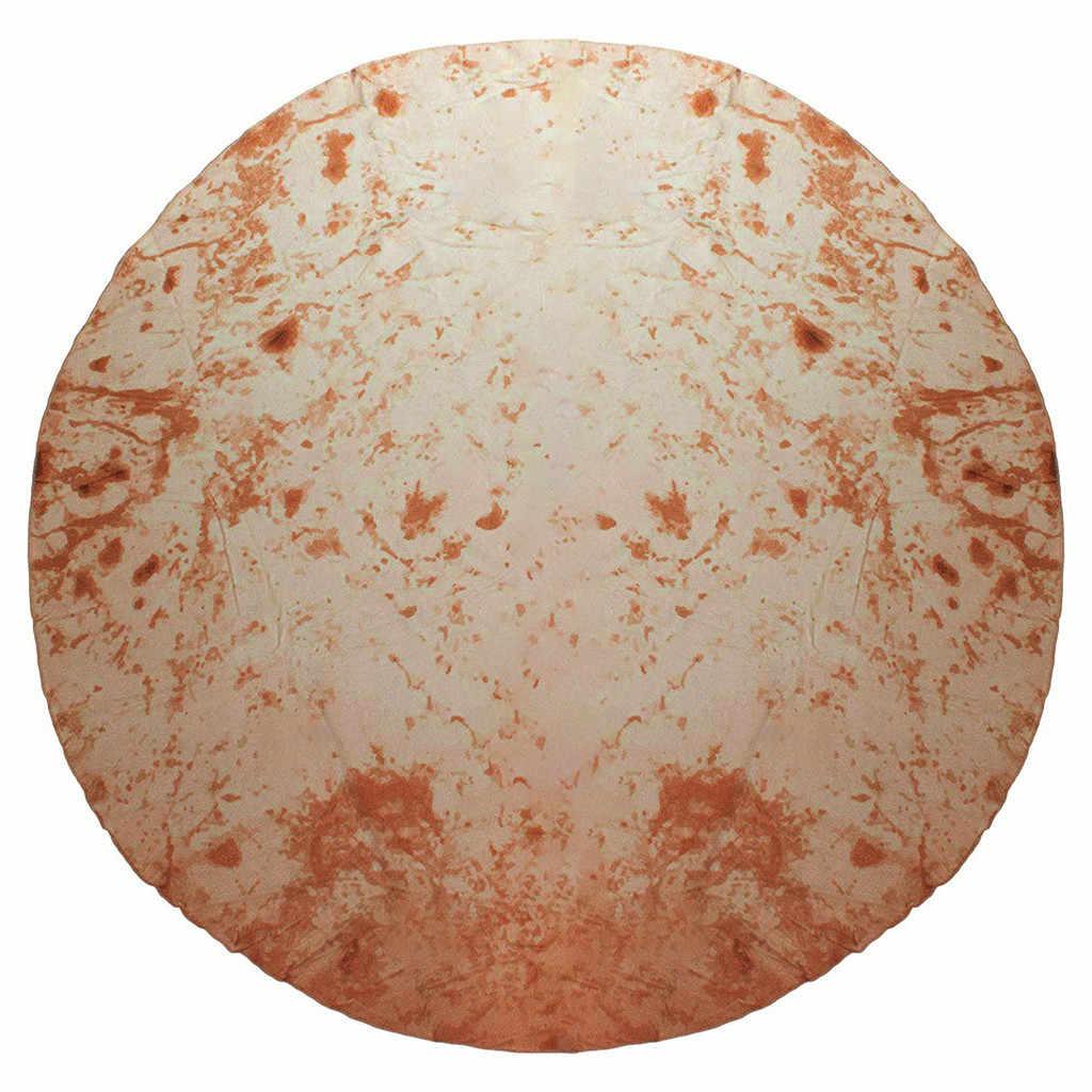 Комфорт еда творения буррито обертывание Новинка одеяло идеально круглый тортилья пледы обертывание Новинка Blanke Tortilla