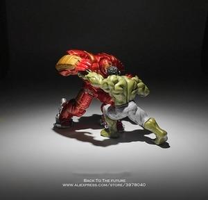 Image 5 - Disney Marvel Avengers Hulk Hulkbuster 7 8cm 2pcs/set Figure Super Heroes Flashing PVC Action Figures Toys model for children