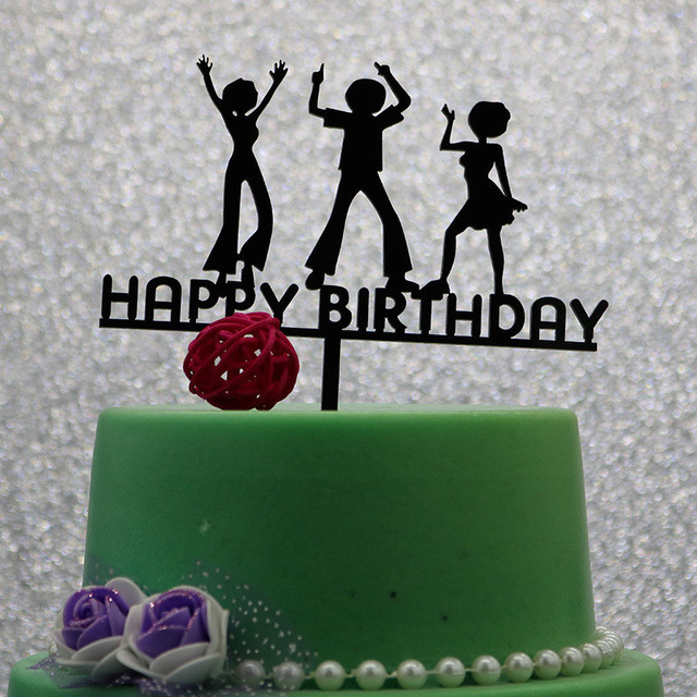 Acrylic Children Dance Happy Birthday Cake Topper Birthday Party