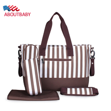 Multifunctional Baby Stroller Bag High Quality Striped  Waterproof Diaper Bags Mother Nappy Bag Handbag
