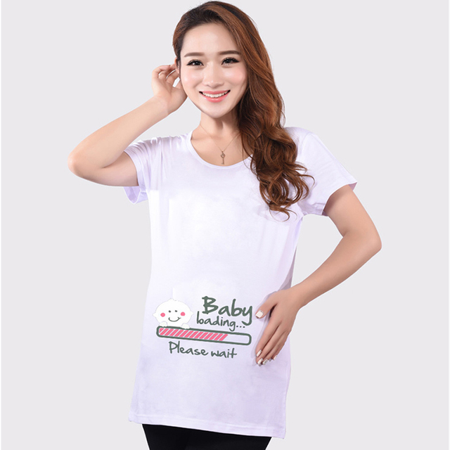 8e4cb3442cc Funny maternity shirts cute pregnancy tops short sleeve maternity clothes  for pregnant women 5 colors soft cotton t-shirts hot