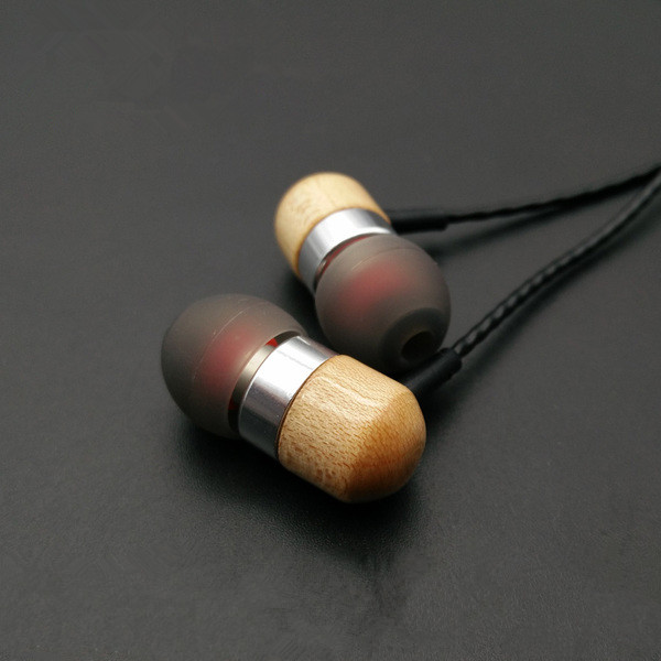2016 New MusicMaker TK Maple Dynamically Earphone HIFI Fever In Ear Earphone DIY Wooden Earphone