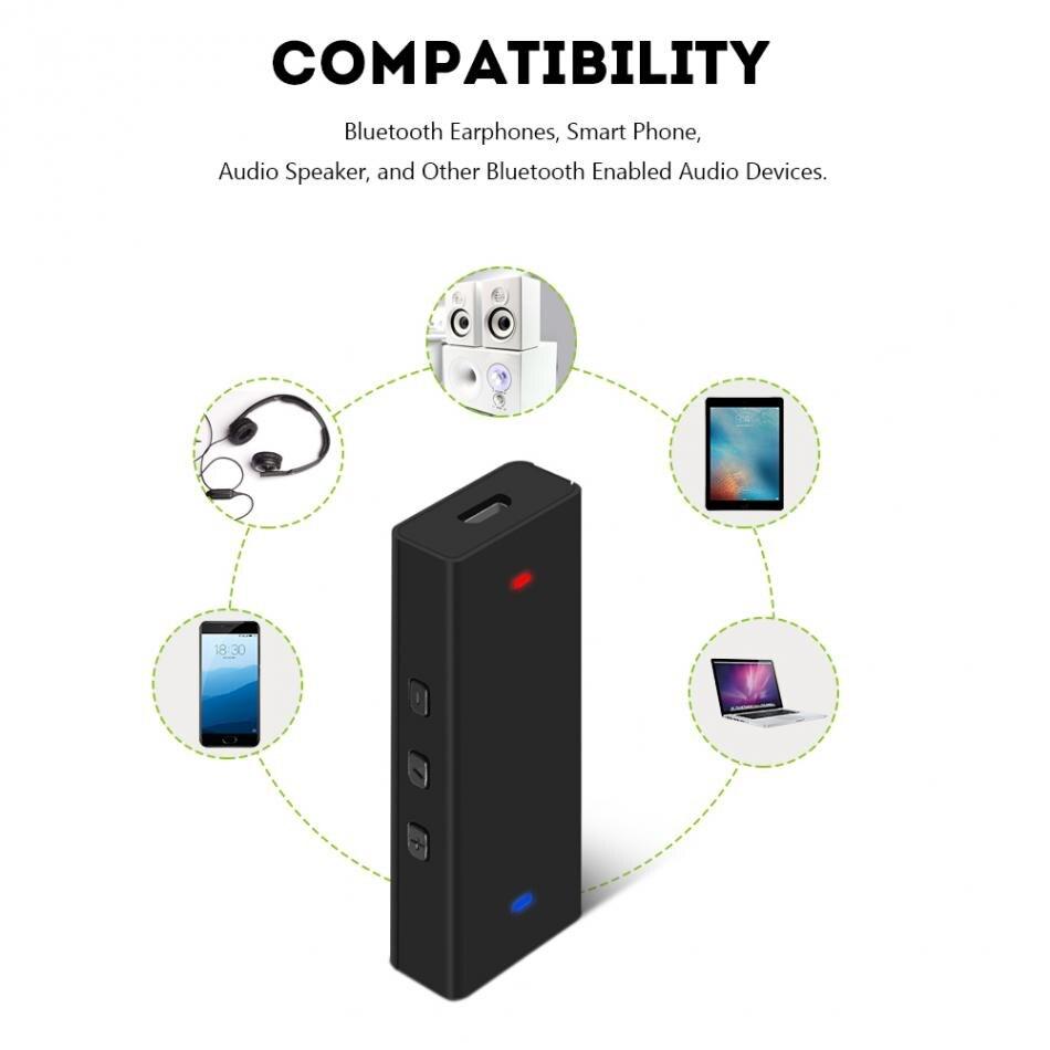 R11 Mini Portable HIFI Audio Bluetooth Écouteur Casque Amplificateur 3.5mm AUX Stéréo