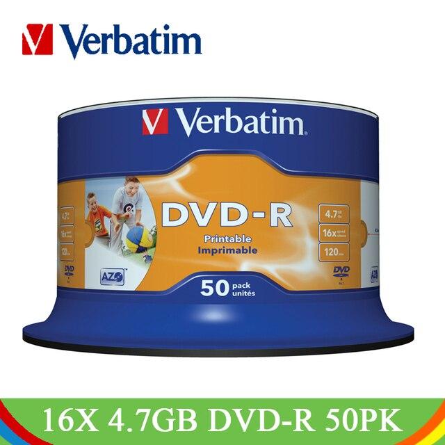 Đúng nguyên văn Viết DVD Ổ Đĩa 16X4.7 gb Có Thể In DVD-R Trống Đĩa Bluray Trắng Phun Ghi Phương Tiện Truyền Thông Đĩa CD Nhỏ Gọn cho Máy Tính Xách Tay PC