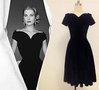 Grace Of Monaco Sweetheart Vintage Prom Dresses Vintage Retro 50s Vestidos Velvet Classic Audrey Hepburn Lastest