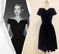 Grace of Monaco Sweetheart Vintage Dresses Vintage retro 50s vestidos Velvet Classic Audrey Hepburn Lastest